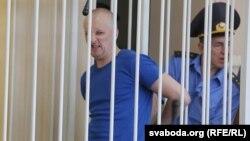 Андрэй Бандарэнка падчас суду ў ліпені