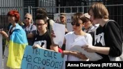 Акция в поддержку Сенцова и Кольченко в Киеве