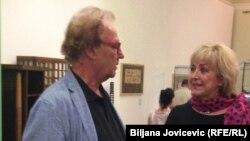 Jasna Šamić u društvu hrvatskog reditelja Lordana Zafranovića, Prag, 22. juni 2016.