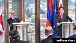 საქართველოს პრეზიდენტი მიხეილ სააკაშვილი და სომხეთის პრეზიდენტი სერჟ სარგსიანი