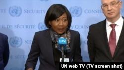 Ministrja e Jashtme e Afrikës Qëndrore, Sylvie Baipo Temon.