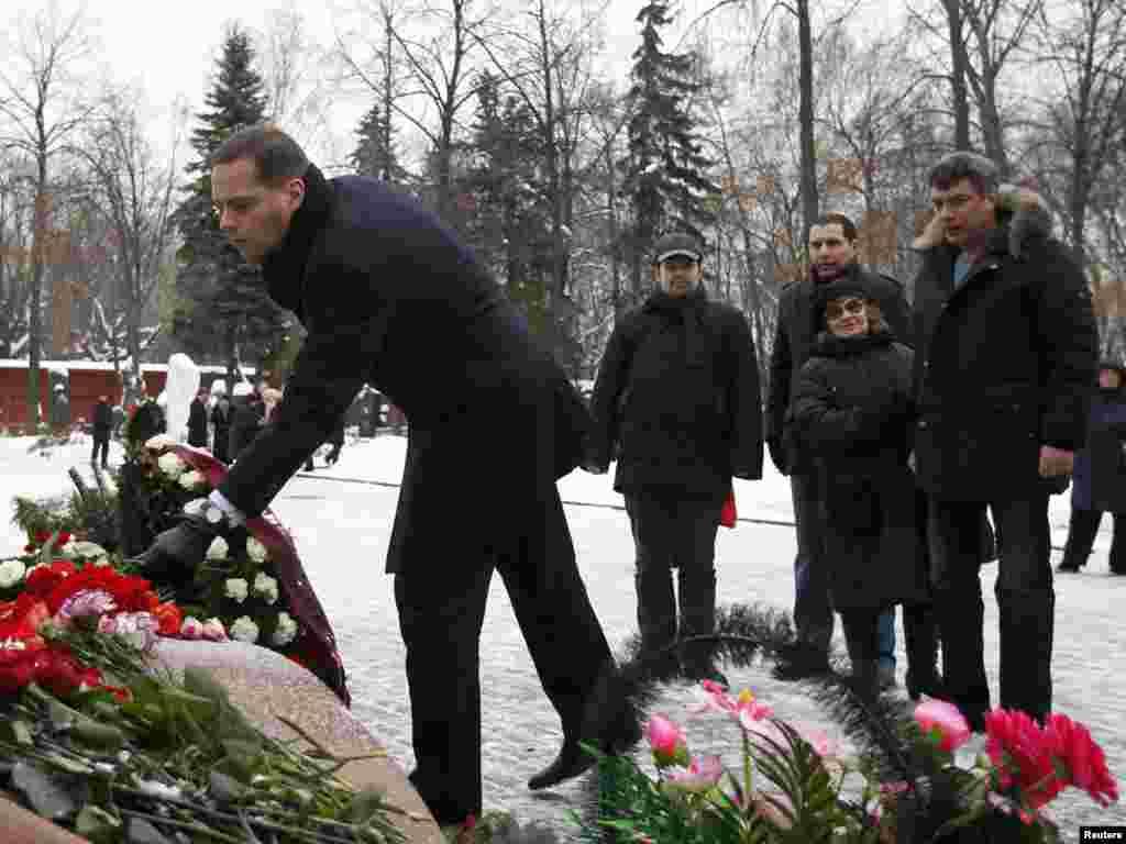 Церемония памяти Бориса Ельцина