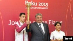 Azerbaijan. Baku. European Games torch relay program presentation kicks off in Baku