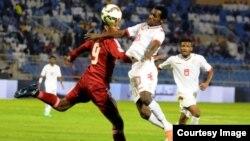 مشهد من مباراة العراق والكويت 14 تشرين 2