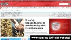 Naslovnica portala Cafe Del Montenegro, 27. februar 2016.