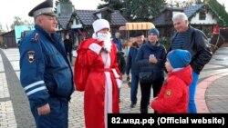 Полицейский Дед Мороз в Керчи