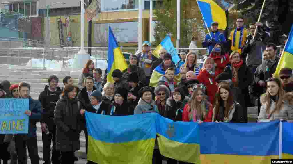 Митинг в канадском городе Эдмонтон - 24 ноября (фото: Мыхайло Вовк)