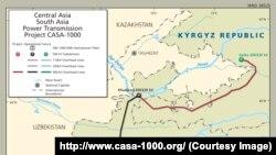 CASA - 1000 долбоорунун картасы.