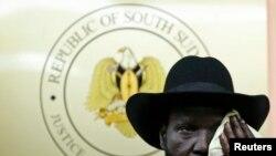 Претседателот на Јужен Судан Салва Кир.