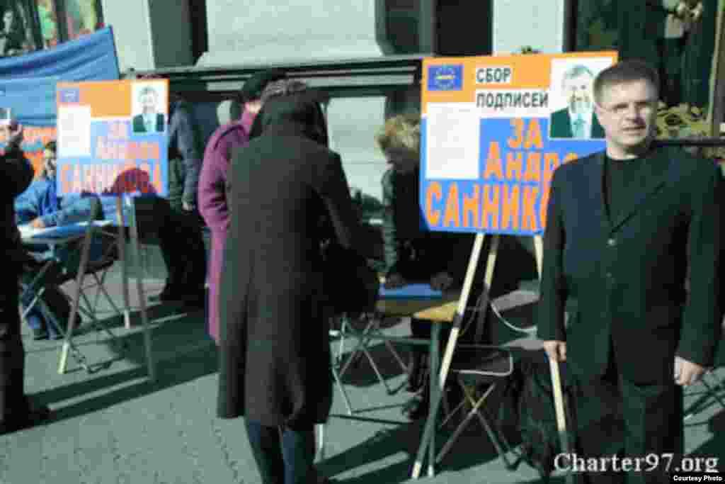 Кіраўнік ініцыятыўнай групы Саньнікава Ўладзімір Кобец. Фота: charter97.org