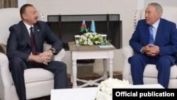 Turkey - Presidents Ilham Aliyev (L) of Azerbaijan and Nursultan Nazarbaev of Kazakhstan meet in Bodrum, 4Jun2014.