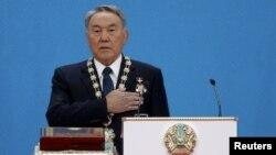 Нурсултан Назарбаев на церемонии инаугурации