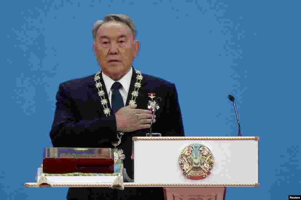 Нурсултан Назарбаев на инаугурации 8 апреля 2011 года.