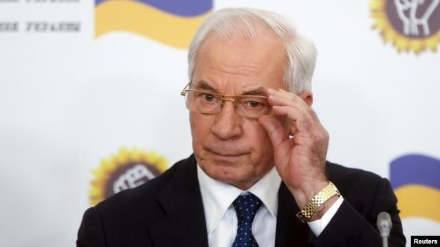 Former Ukrainian Prime Minister Mykola Azarov