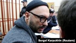 Кирило Серебренников на одному із засідань суду, 17 вересня 2017 року