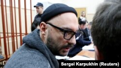 Kirill Serebrennikov attends a court hearing in Moscow in September.