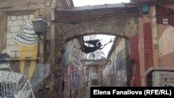 Ужупис, граффити и ангел