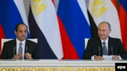 Президент Росії Володимир Путін і його єгипетський колега Абдель Фаттах Ас-Сісі (архівне фото)