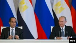 Presidenti egjiptian, Abdel Fattah al-Sisi dhe homologu rus, Vladimir Putin
