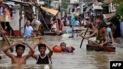 Філіппінське місто, затоплене внаслідок тайфуну у вересні 2009 року