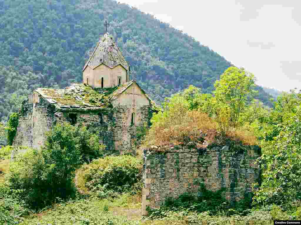 The Yeritsmankants monastery in the forested Martakert region