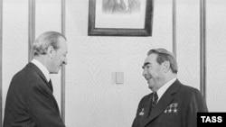 Последний представитель Старого Света на этом посту австриец Курт Вальдхайм с Леонидом Брежневым