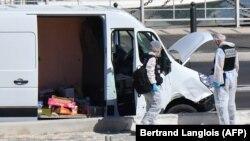 Полиция на месте происшествия в Марселе