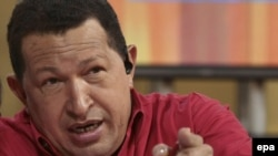 Venezuelan President Hugo Chavez (file photo)