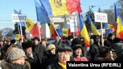 Під час акції протесту опозиції в Кишиневі