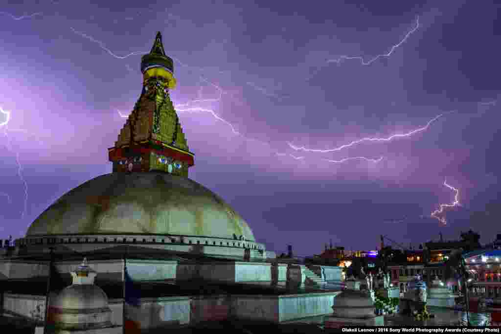 PhotographerOleksii Leonov of Ukraine:The Wrath Of The Gods Photo taken during a thunderstorm in Kathmandu, Nepal.