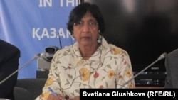 UN High Commissioner for Human Rights Navi Pillay during her visit to Astana on July 12