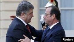 Президент України Петро Порошенко та президент Франції Франсуа Олланд, архівне фото
