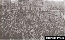 Həsən bəy Zərdabinin dəfn mərasimi - 1907