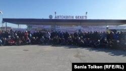 На забастовке работников нефтесервисного предприятия «Бургылау». Жанаозен, 4 октября 2016 года.
