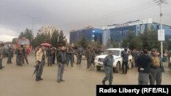 Сотрудники силовых структур Афганистана в районе Хайр Хана на севере Кабула.