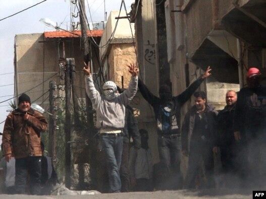 اعتراضات در شهر دَرعای سوریه.