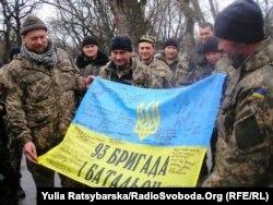 Бійці 93-ї бригади на зустрічі у Дніпрі (кол. Дніпропетровськ), квітень 2015 року