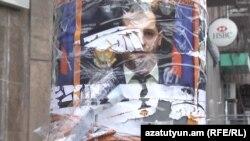 Պատռել են ՀՎԿ անդամ Տիգրան Սարգսյանի նախընտրական պաստառները