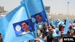 Prezidentliyə namizəd Abdulla Abdullanın tərəfdarlarının seçki kampaniyası, 11 avqust 2009