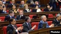 Фракция РПА в ходе заседания парламента (архив)