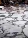 Armenia -- Flooding and hail storm incident in Gyumri.