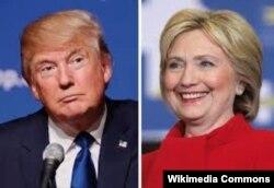 Clinton i Trump (l)