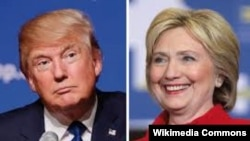 Кандидаты в президенты США Дональд Трамп и Хиллари Клинтон.