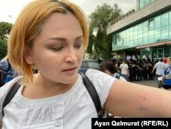Активист Даная Калиева. Алматы, 6-июль, 2021-жыл.