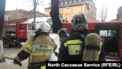 В тушении пожара во владикавказской больнице принимали участие более 50 человек, Северная Осетия, 26 февраля 2019 года