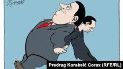 "Predrag Koraksiç Koraksyň ""Goldaw"" diýen karrikaturasy"