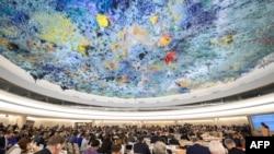 BMT-nin İnsan Haqları Şurasının Cenevrədə toplantısı, arxiv fotosu