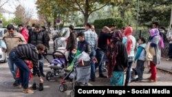 Pamje e migrantëve në Vjenë