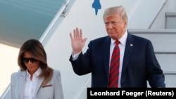 Дональд Трамп и его супруга Мелания Трамп