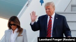 Дональд Трамп и его супруга Мелания Трамп.
